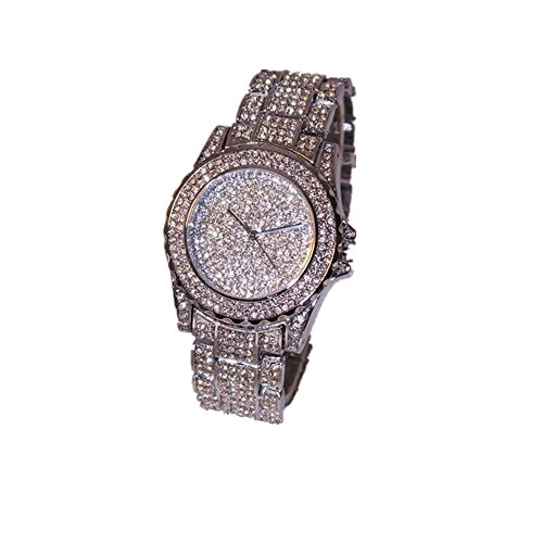 Luxus Kingwo Rhinestone Keramik Kristall Quarzuhren Dame Dress Watch