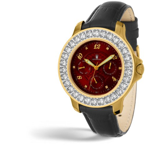 ASTBOERG Royal Diamond Damen Uhr Rot AT406R