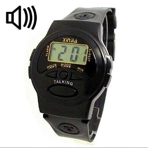 Sprechende Armbanduhr in franzoesischer Sprache ideal fuer Blinde