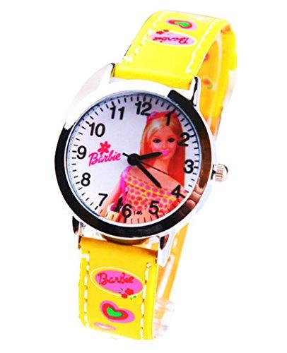 Barbie doll children kids cartoon Uhren Watches Belt Watch WP KTW161988H