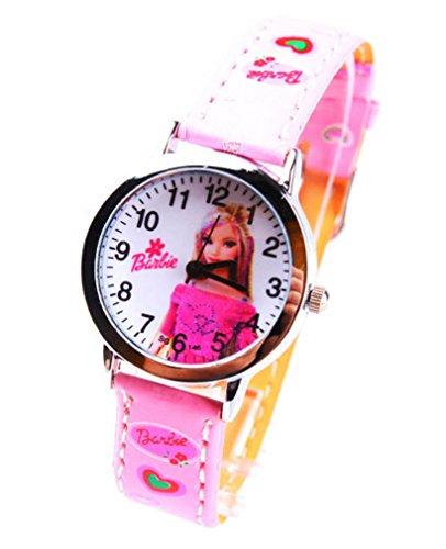 Barbie doll children kids cartoon Uhren Watches Belt Watch WP KTW161988P