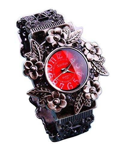 Bracelet Uhren Elegent Vintage Engraving fashion ladys womens bracelet watches wrist quartz bangle watch WPB KTW159530R