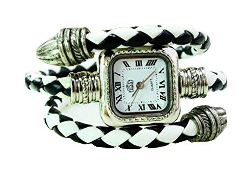 Bracelet Uhren Elegent Leather Strap fashion ladys womens bracelet watches wrist quartz bangle watch WPB KTW153755BW