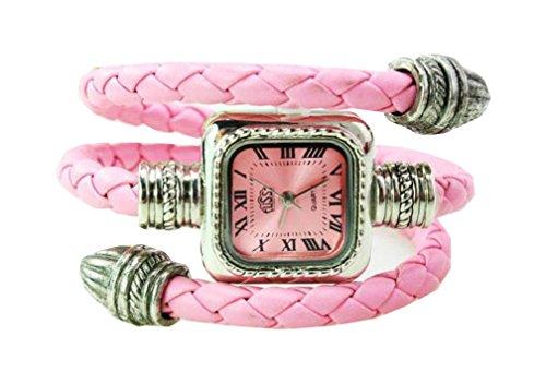 Bracelet Uhren Elegent Leather Strap fashion ladys womens bracelet watches wrist quartz bangle watch WPB KTW153755P