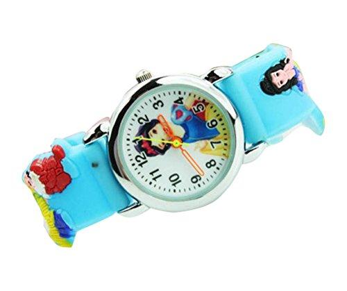 NEW Lovely Snow White children kids Kinder cartoon 3D Watch silicone Watches Uhren WP KTW127891L