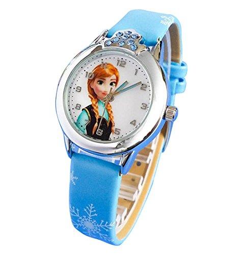 Disney Frozen children kids cartoon Watches leather Watch WP KTWBS001L
