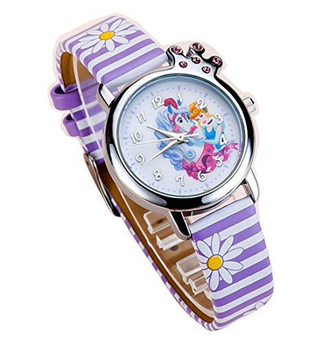 Snow white children kids cartoon Watches leather Watch WP KTWBS002Z