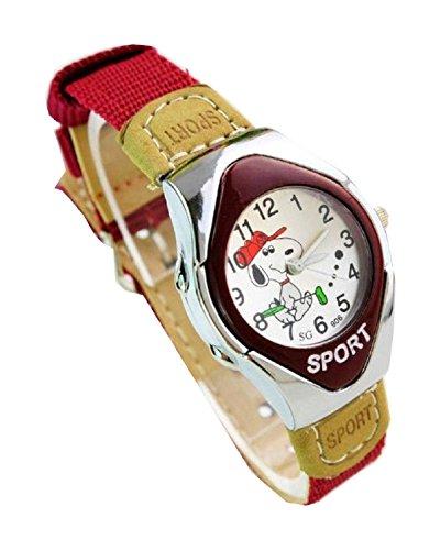 NEW Lovely Snoopy children kids Kinder cartoon Watches Uhren Textile Watch Band WP KTW147494R