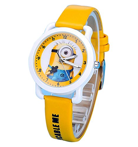 despicable me banana minions kids cartoon Watches leather Watch WP KTWHR001H