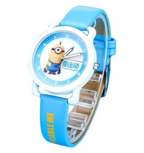 despicable me banana minions kids cartoon Watches leather Watch WP KTWHR001L