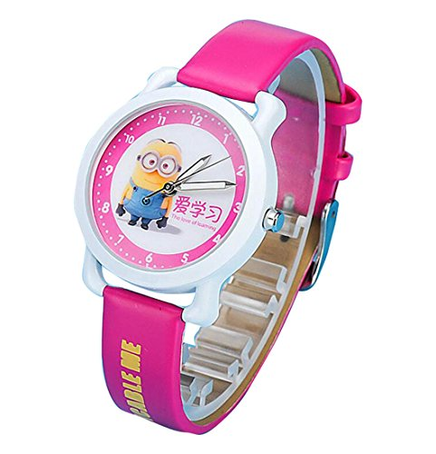 despicable me banana minions kids cartoon Watches leather Watch WP KTWHR001M