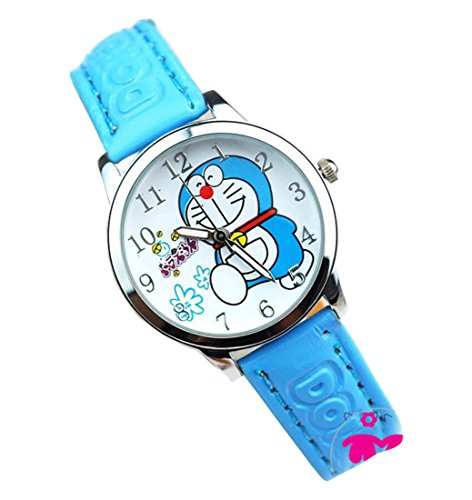 Doraemon children kids cartoon Watches leather Watch WP KTWDD004L