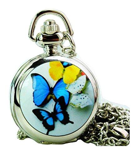New fashion Taschenuhr Pocket Watch with mirror Chain Necklace Alloy Uhren watches WPH KTW150665D