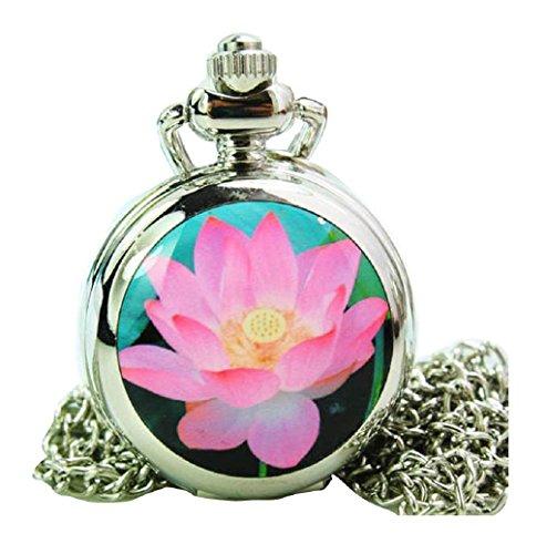 New fashion Taschenuhr Pocket Watch with mirror Chain Necklace Alloy Uhren watches WPH KTW150665H