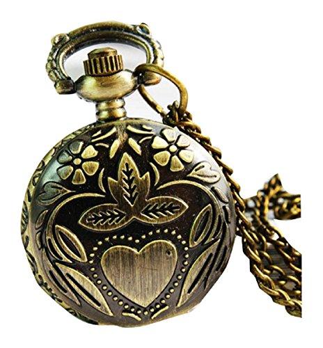 New Fujihana Taschenuhr Pocket Watch Chain Necklace Alloy Antique Bronze Uhren watches WPH KTW142935A