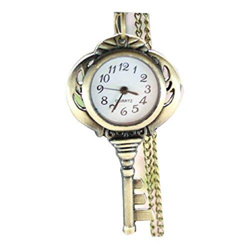 New keyring Taschenuhr Pocket Watch Chain Necklace Alloy Antique Bronze Uhren watches WPH KTW140713A