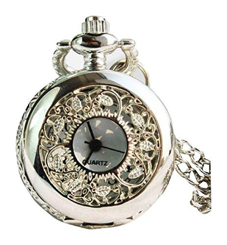New Silver Taschenuhr Pocket Watch Chain Necklace Alloy Uhren watches WPH KTW142936A
