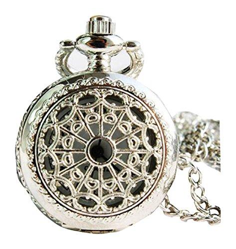 New Silver Taschenuhr Pocket Watch Chain Necklace Alloy Uhren watches WPH KTW142938A