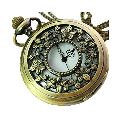 New Taschenuhr Pocket Watch Chain Necklace Alloy Antique Bronze Uhren watches WPH KTW142920A