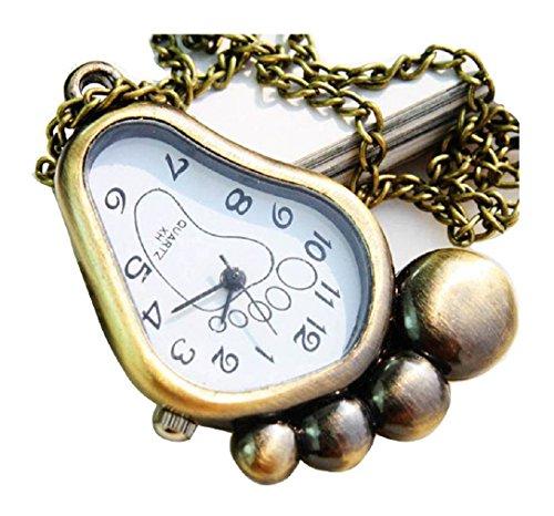 New SMOER Taschenuhr Pocket Watch Chain Necklace Alloy Antique Bronze Uhren watches WPH KTW146303A
