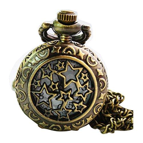 New Starry Sky Taschenuhr Pocket Watch Chain Necklace Alloy Antique Bronze Uhren watches WPH KTW146585A