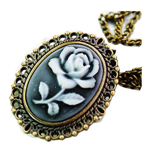 New flower Taschenuhr Pocket Watch Chain Necklace Alloy Antique Bronze Uhren watches WPH KTW147380A