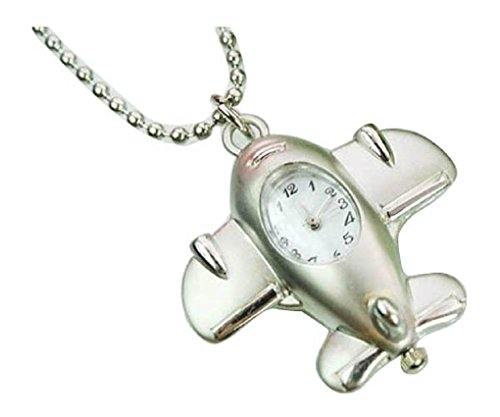New small plane Taschenuhr Pocket Watch Chain Necklace Alloy Uhren watches WPH KTW127188A