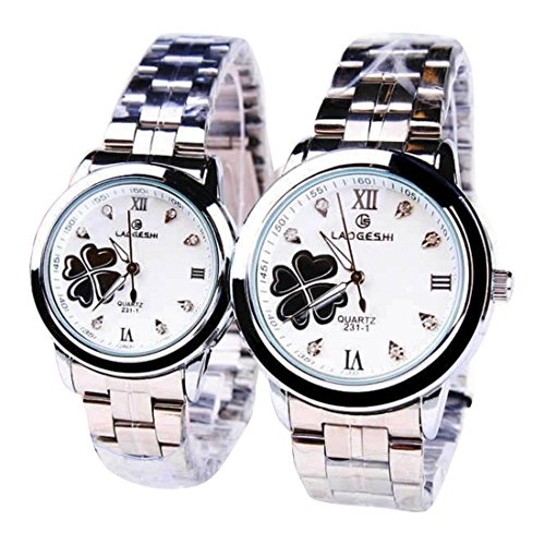 2 Pcs Watches Couple Lovers Mens Lady Women Quartz Luminous Wrist Uhren WPX KTW168645B