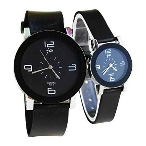 2 Pcs Watches Couple Lovers Mens Lady Women Quartz Silicone Wrist Uhren WPX KTW145240B