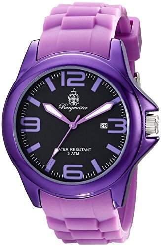 Burgmeister Damen-Armbanduhr XL Analog Quarz Silikon BM166-090A