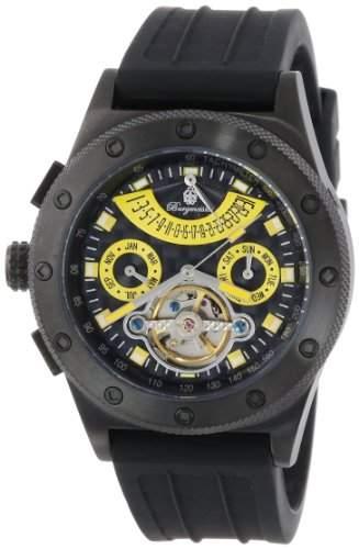 Burgmeister Herren-Armbanduhr XL Freeport Analog Automatik Silikon BM172-622D