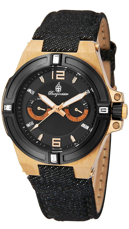 Burgmeister Damen-Armbanduhr Analog Quarz Textil BM220-922