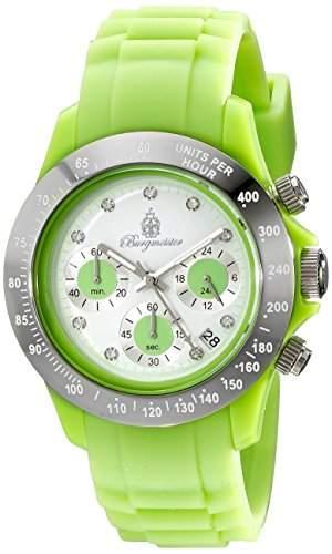 Burgmeister Damen-Armbanduhr Chronograph Quarz Silikon BM514-990F