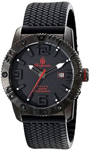 Burgmeister Herren-Armbanduhr XL Black Silikon BM522-622E