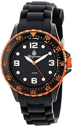 Burgmeister Herren-Armbanduhr Analog Quarz Silikon BM605-622C