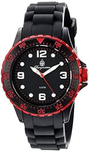 Burgmeister Herren-Armbanduhr Analog Quarz Silikon BM605-622D