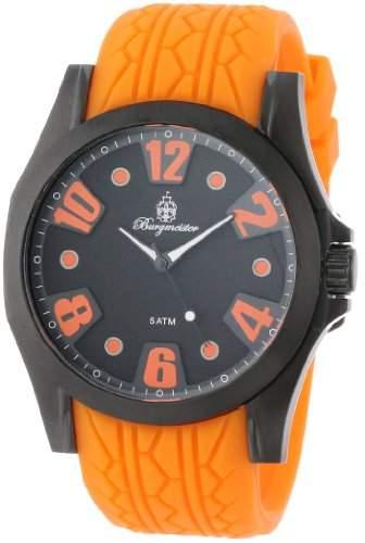 Burgmeister Herren-Armbanduhr XL Analog Quarz Silikon BM606-620B