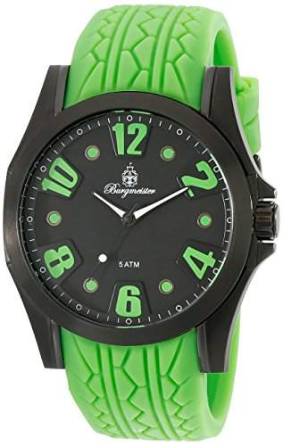 Burgmeister Herren-Armbanduhr XL Analog Quarz Silikon BM606-620C