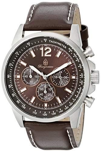 Burgmeister Herren-Armbanduhr Chronograph Quarz Leder BM608-195