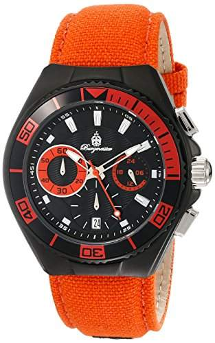 Burgmeister Herren-Armbanduhr XL Marseille Chronograph Quarz Textil BM609-629B