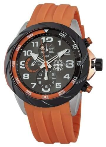 Burgmeister Herren-Armbanduhr XL Buenos Aires Chronograph Quarz Silikon BM702-124