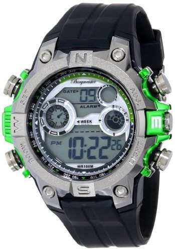 Burgmeister Herren-Armbanduhr XL Digital Power Silikon BM800-112D