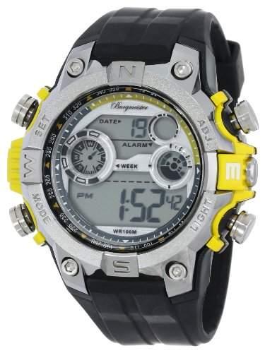 Burgmeister Herren-Armbanduhr XL Digital Power Silikon BM800-112E