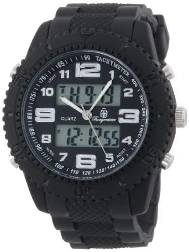 Burgmeister Herren-Armbanduhr XL Military Analog - Digital Quarz Silikon BM900-622