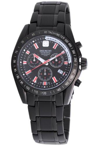 Swiss Military Hanowa Herren 06 5118 13 007 Supersonic Chronograph Black Dial Uhr