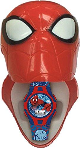 Digitaluhr in einem gehaeuse aus kunststoff in der form von Spiderman