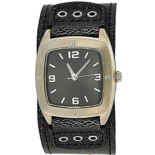 CARVEL Maedchen - Jungen Analoge Armbanduhr mit grauem Ziffernblatt & grauem, breitem Manschettenarmband