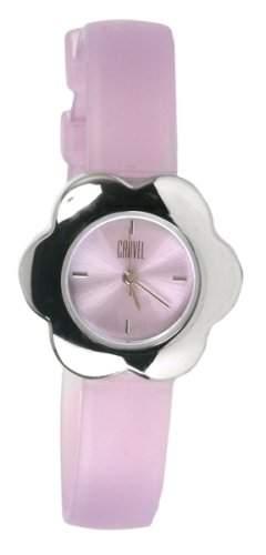 Carvel Damen B51115CA lila Zifferblatt und Blume Form Fall Armbanduhr