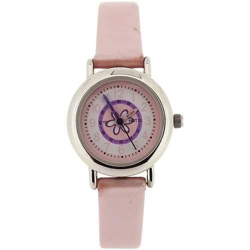 Carvel - C96024FX - Lernuhr Maedchenuhr mit rosa metallic Armband