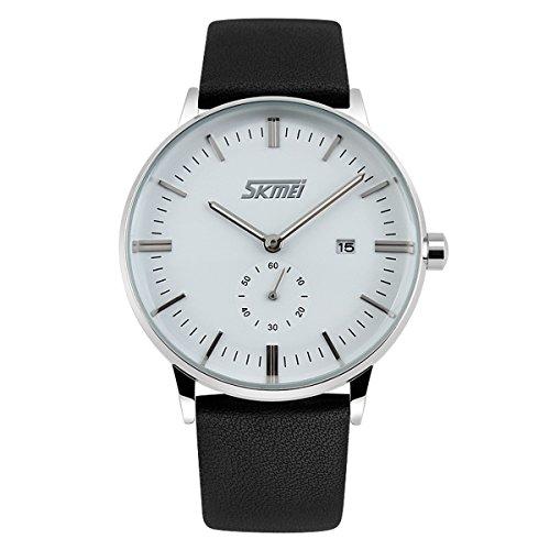BesWLZ Quarz Armbanduhr elegant Quarzuhr Uhr modisch Zeitloses Design klassisch Analog Quarz Uhren schwarz